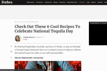 Check Out These 6 Cool Recipes To Celebrate National Tequila Day