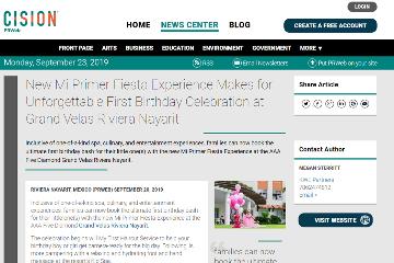 New Mi Primer Fiesta Experience Makes for Unforgettable First Birthday Celebration at Grand Velas Riviera Nayarit