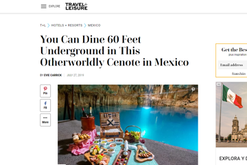 You Can Dine 60 Feet Underground in This Otherworldly Cenote in Mexico