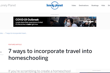 lonelyplanet ways to incorporate travel into homeschooling