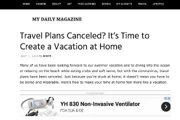 my daily magazine travel plans canceled