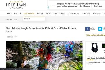 New Private Jungle Adventure for Kids at Grand Velas Riviera Maya