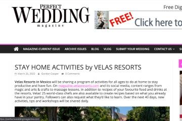 perfectweddingmagazine STAY HOME ACTIVITIES by VELAS RESORTS