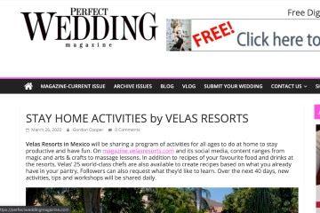 perfectweddingmagazine STAY HOME ACTIVITIES by VELAS RESORTS