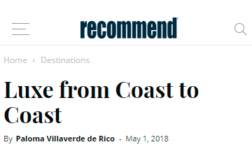 Luxe from Coast to Coast