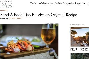 Send A Food List, Receive an Original Recipe