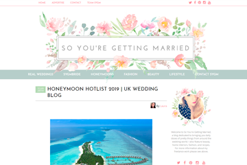 Honeymoon Hotlist 2019 | UK WEDDING BLOG