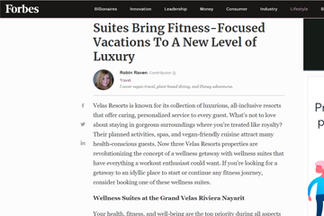 Suites Bring Fitness-Focused Vacations To A New Level of Luxury