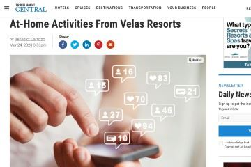 travel agent central At-Home Activities From Velas Resorts