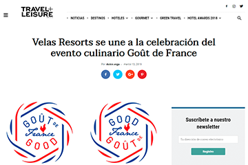 Velas Resorts se une a la celebración del evento culinario Goût de France