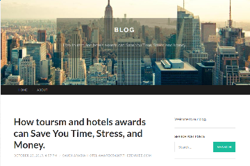 How Tourism and Hotel's Awards can save your time, stress and money.